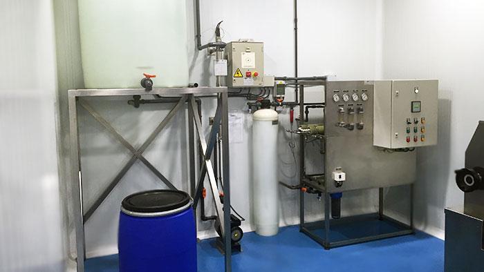 Planta de tratamiento de agua para productos cosméticos