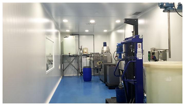 Sala de fabricación de productos cosméticos
