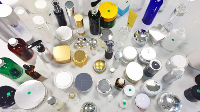 Envases de productos cosméticos