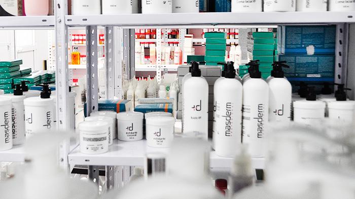 Muestroteca de materias primas y productos cosméticos