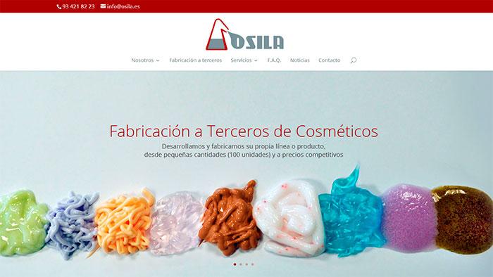 Nueva pagina web de Laboratorios Osila